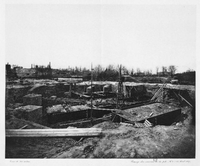 Фотографии процесса строительства Эйфелевой башни